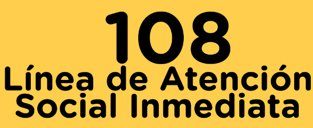 108: linea de atención social atención inmediata