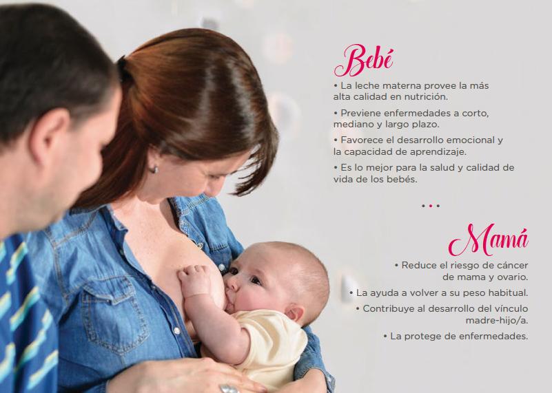 lactancia materna: lo mejor para la mamá y para el bebe