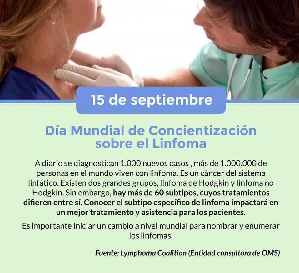 15 de septiembre: día mundial de concientización sobre el Linfoma