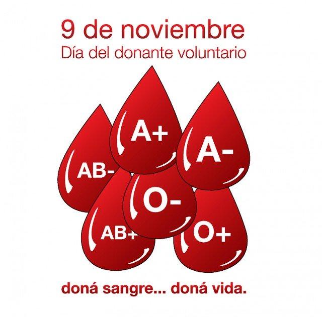9 de Noviembre: Día Nacional del Donante Voluntario de Sangre