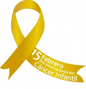 lazo dorado: 15 de febrero día mundial del cancer infantil